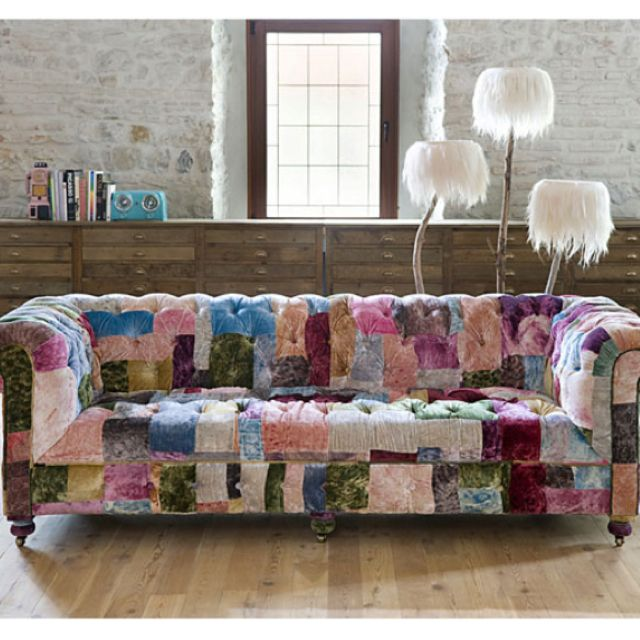 Patchwork sofa by mudo concept make it home pinterest for Sofa patchwork