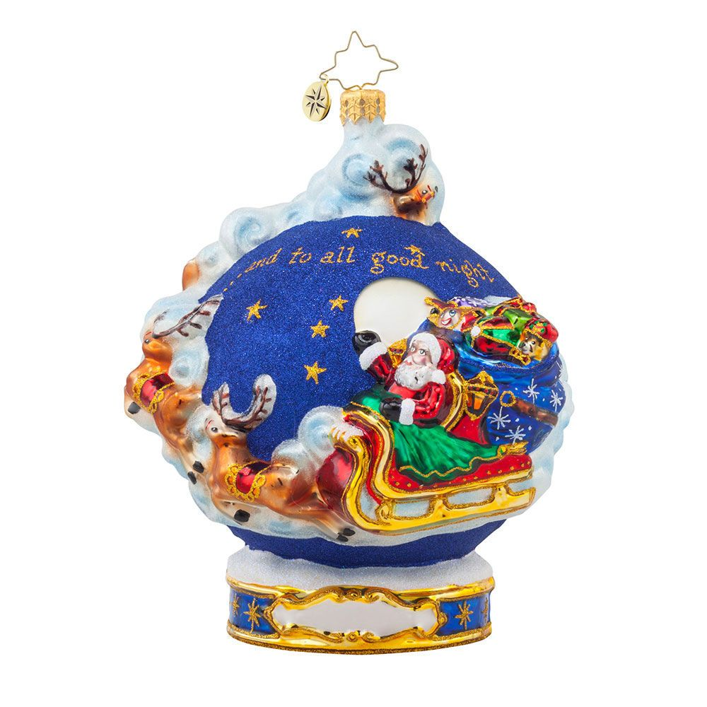 Christopher Radko Personalized Ornaments And To All A Good Night Radko 3013493 Christmas Ornaments Christopher Radko Ornaments Ornaments