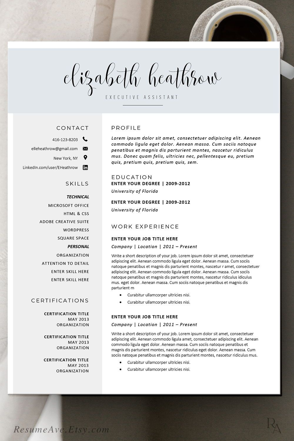 Pin on Executive resume templates