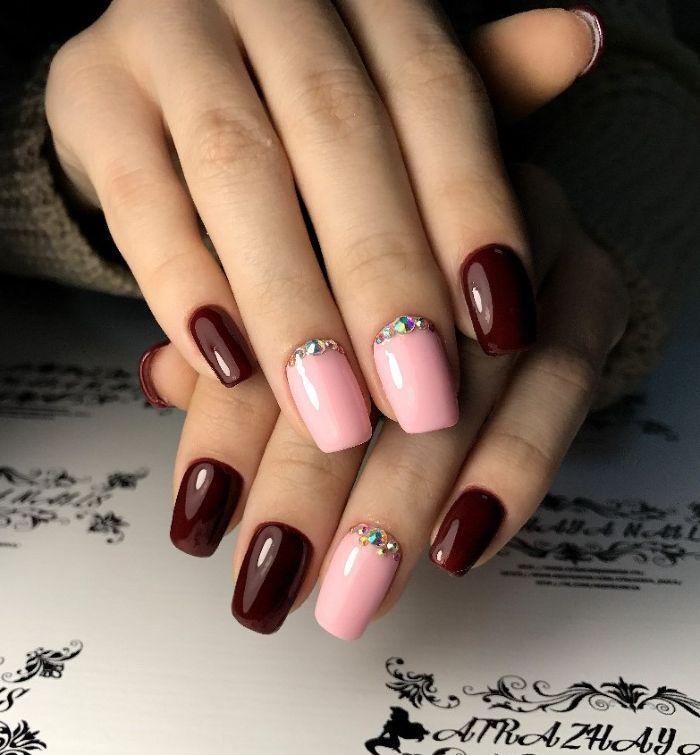 были дизайн ногтей в два цвета фото вибера