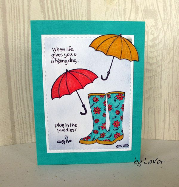 Play in the Puddles   Penny black, April showers and Showers