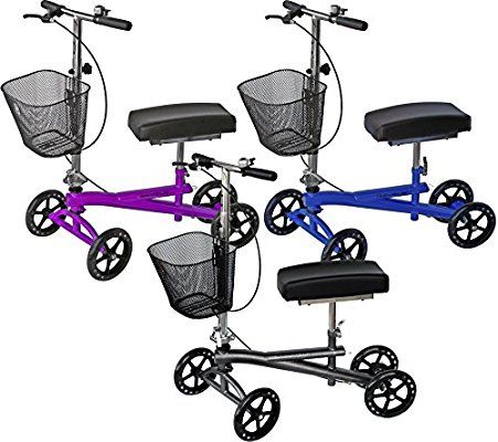 Knee Scooter Walker W X2f Most Sought Features Silver