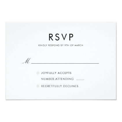 Simple Elegant Modern Wedding Rsvp Card Weddinginvitations