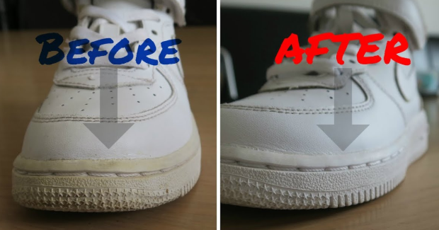 How To Clean White Shoe Soles - Clean