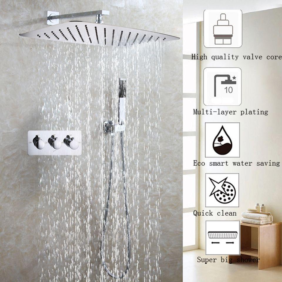 Bathroom Products Accessories Wall Mount Shower Head Rain Bath