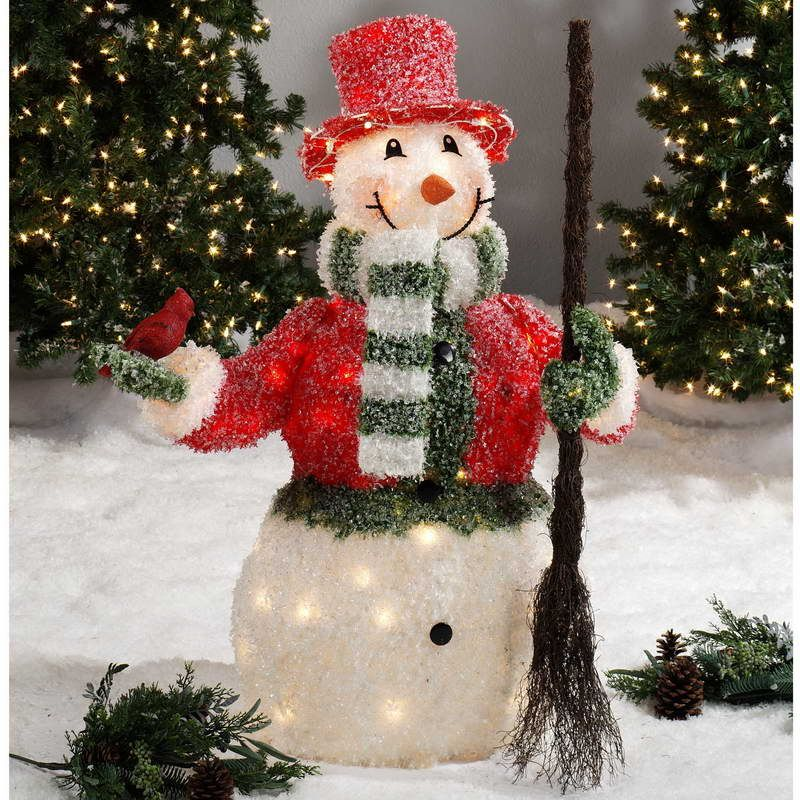 27 COZY ICE CHRISTMAS DECORATIONS FOR OUTDOORS Outdoor lighted - outdoor snowman christmas decorations