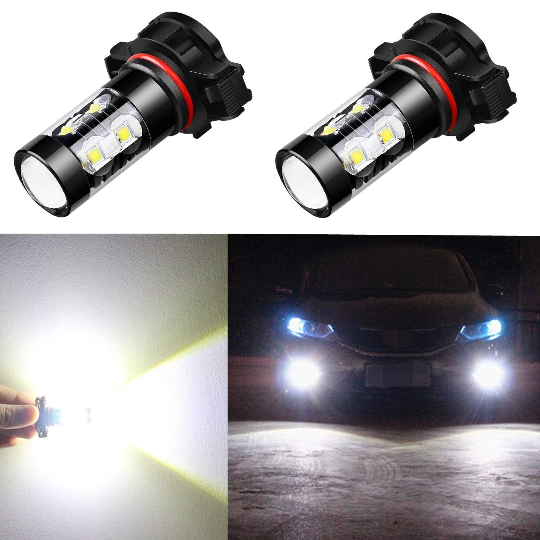 Alla Lighting 2504 Psx24w Led Fog Light Bulbs Super Bright Psx24w Led Bulb High Power 50w 12v Led Psx24w Bulb For 12276 2504 Ps Led Fog Lights Led Bulb 12v Led