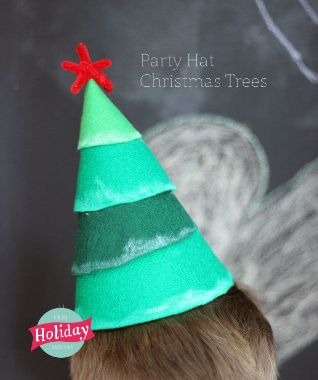 Christmas Party Hat Ideas Part - 19: Fresh Holiday Traditions. Felt Christmas TreesChristmas HatsChristmas Is  ComingChristmas PartiesMerry ChristmasChristmas IdeasJesus ...
