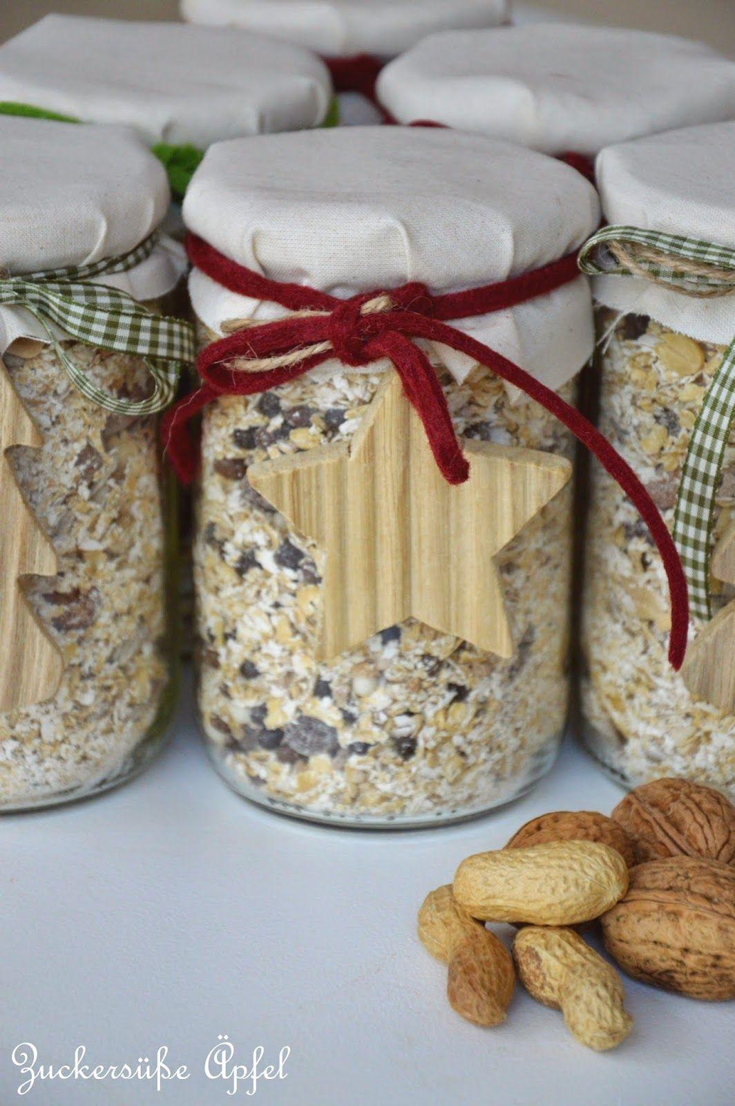Müslimischungen im Glas, ein tolles Geschenk aus der Küche