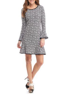 MICHAEL Michael Kors White Daphne Floral Flounce Dress