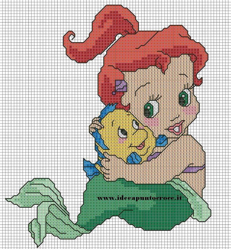 Baby Ariel 2-3 cross stitch