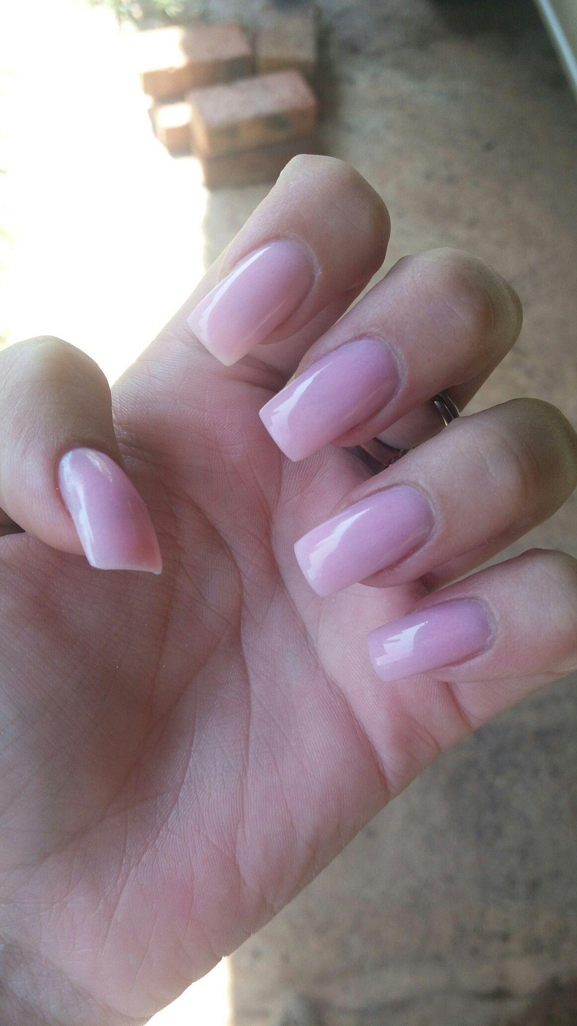 Acrylic nails plain pink LOVE ! - Acrylic Nails Plain Pink LOVE ! Nails Acrylic Nails, Nails, Nail