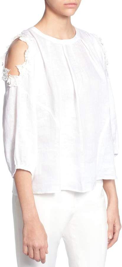 b0b05157 Catherine Malandrino Priya Cold Shoulder Top | Products | Tops ...