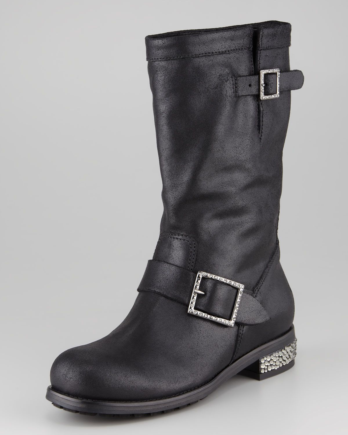 Jimmy Choo Perforated Moto Booties for sale cheap authentic cheap find great sale store l6N0F