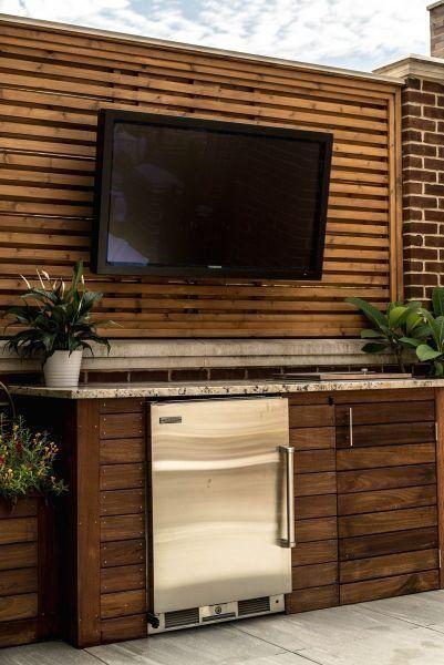 outdoor tv mini fridge ipe cabinetry outdoor granite wood screening wall 1000 in 2020 on outdoor kitchen tv id=17613