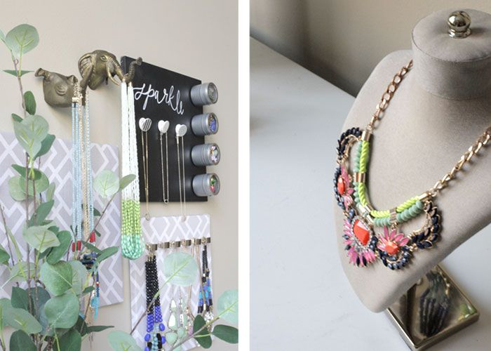 DIY Hanging Jewelry Organizer The Blissful Bee Most Popular From