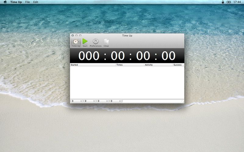 Time Up 1.0.4 software for MacOSX by Rbcafe. Ile