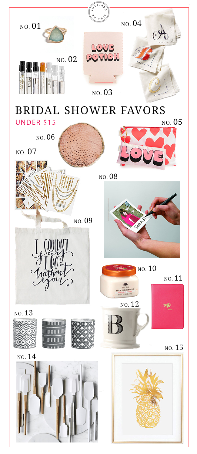 15 low cost ideas for gifts during your bridal shower