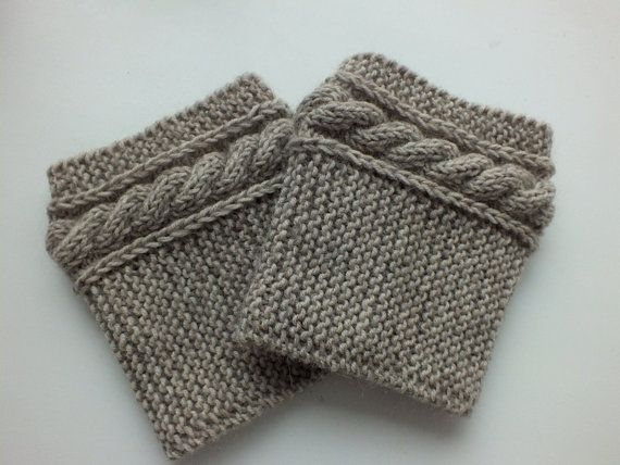 Boot Cuffs, Hand Knit Boot Cuffs Cashmere-Kidmohair Blend Yarn ...