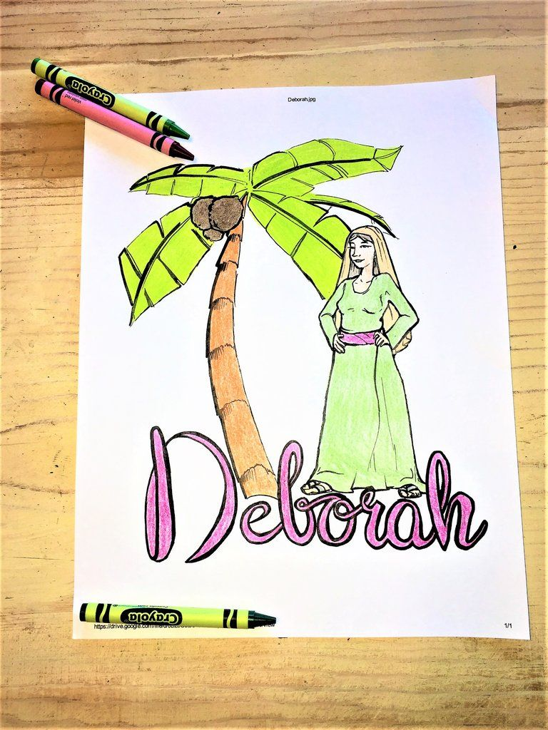 Deborah Coloring Page Bible Coloring Pages Sunday School Coloring Pages Bible Coloring
