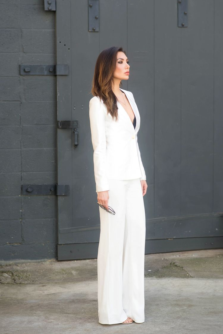 Wear The Pants #whitepantsuit All white pantsuit / thoughtful misfit #whitepantsuit
