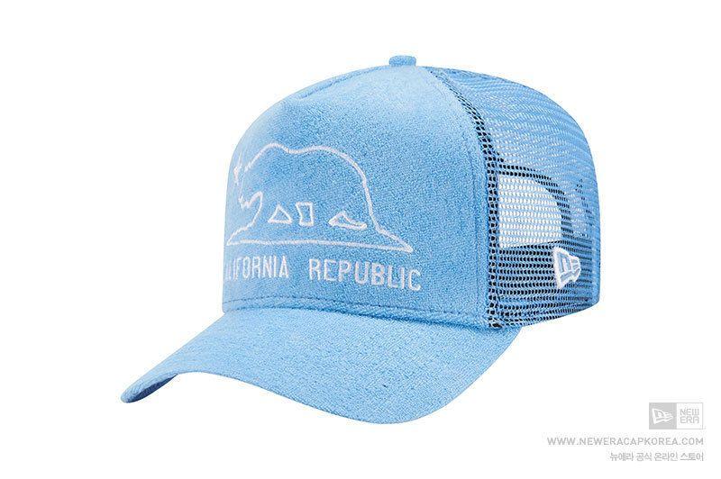 833fb8cea44e8 New Era 9Forty D Frame California Republic Sky Blue Baseball Mesh Cap  Snapback  NewEra  BaseballMeshCap
