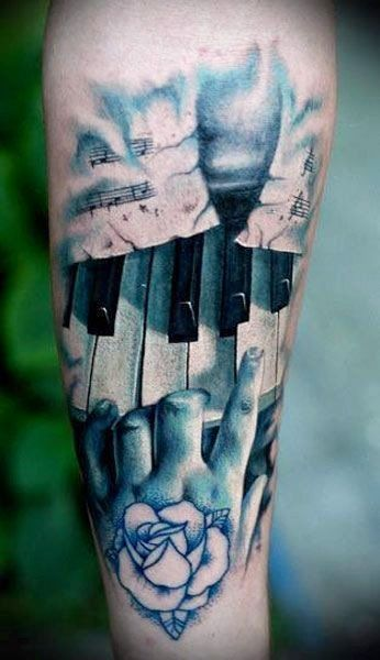 piano keys, I would never get this but love the artist's work!