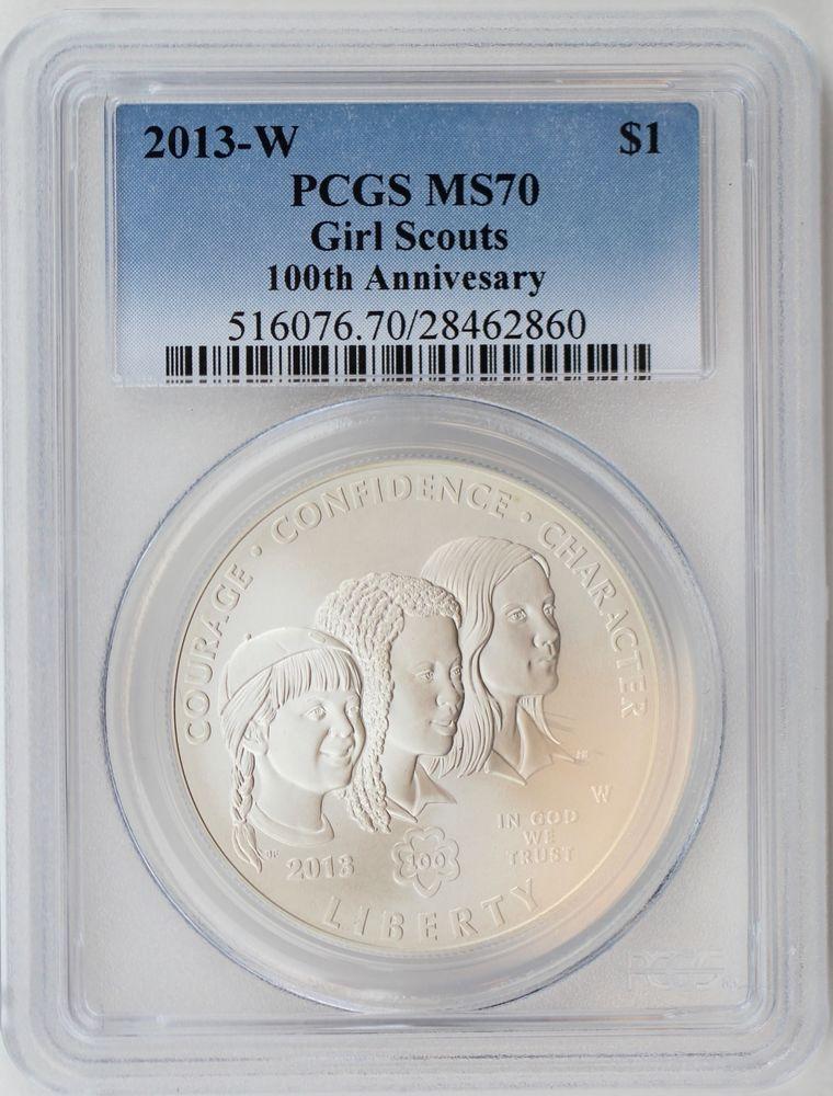 New PCGS Label 2010-P PCGS PR70DCAM Boys Scouts of America $1 Commemorative