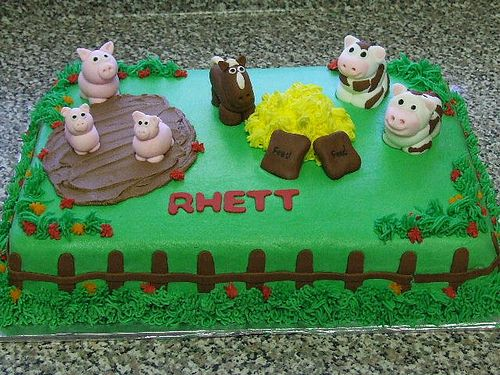 Farm Animal Birthday Cake Flickr Photo Sharing Birthday party