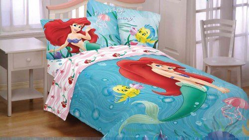 Disney Little Mermaid Ariel Sea Friends Twin Bedding Set By Save 33 Off 79 99 One S Comforter Flat And Ed