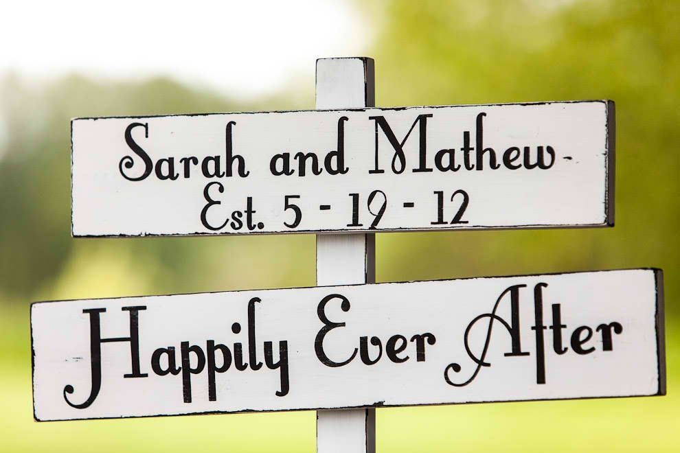 Love this wedding sign