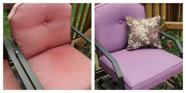 Tutorial For Painting Outdoor Cushions Instead Of Buying Expensive Fabric  To Recover Them!