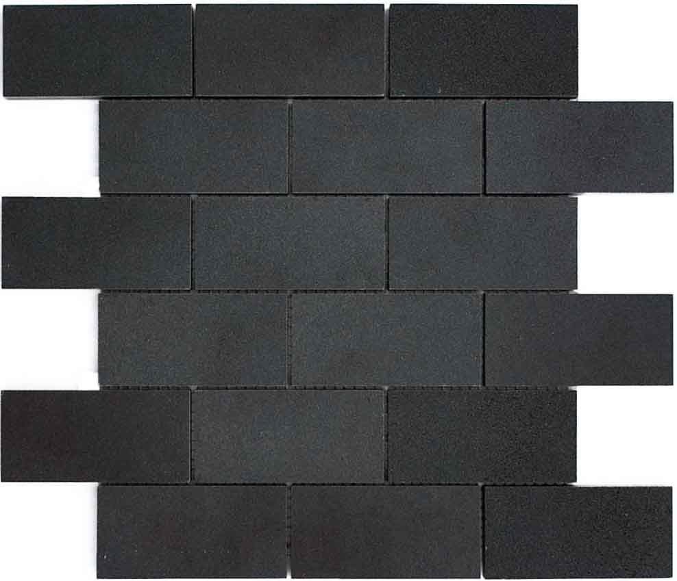 Basalt mosaic subways 2x4 bathrooms pinterest mosaics cut and honed basalt pieces are used to create our subway basalt mosaic tile dailygadgetfo Image collections