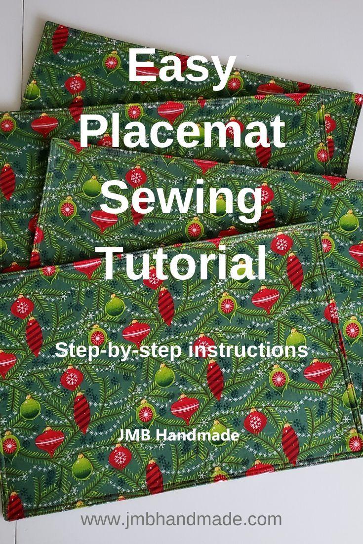 Tutoriel de couture de napperon facile   – Sewing