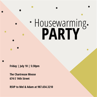 picture relating to Free Printable Housewarming Invitations referred to as Tri Tone - Housewarming Invitation Template (Cost-free Events