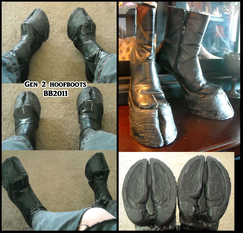 I want to have another go at making hoof boots. but for ...