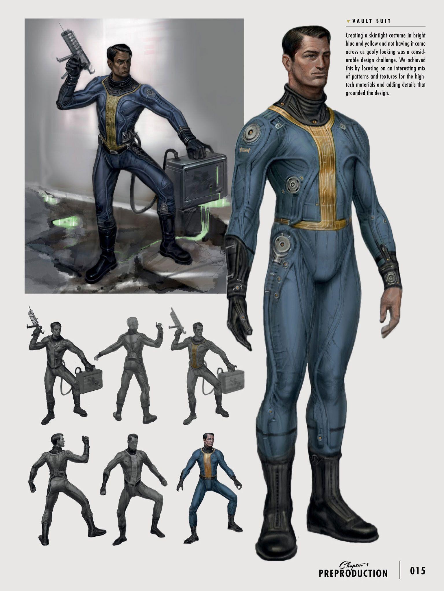 fallout 4 concept vault suit prepared for the future pinterest