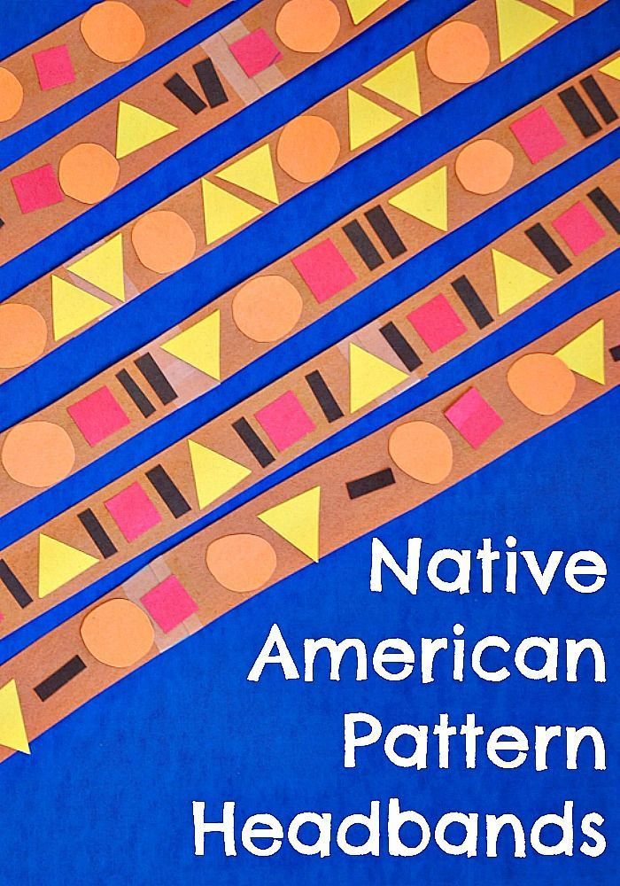 Native American Pattern Headbands Shape Patterns Color