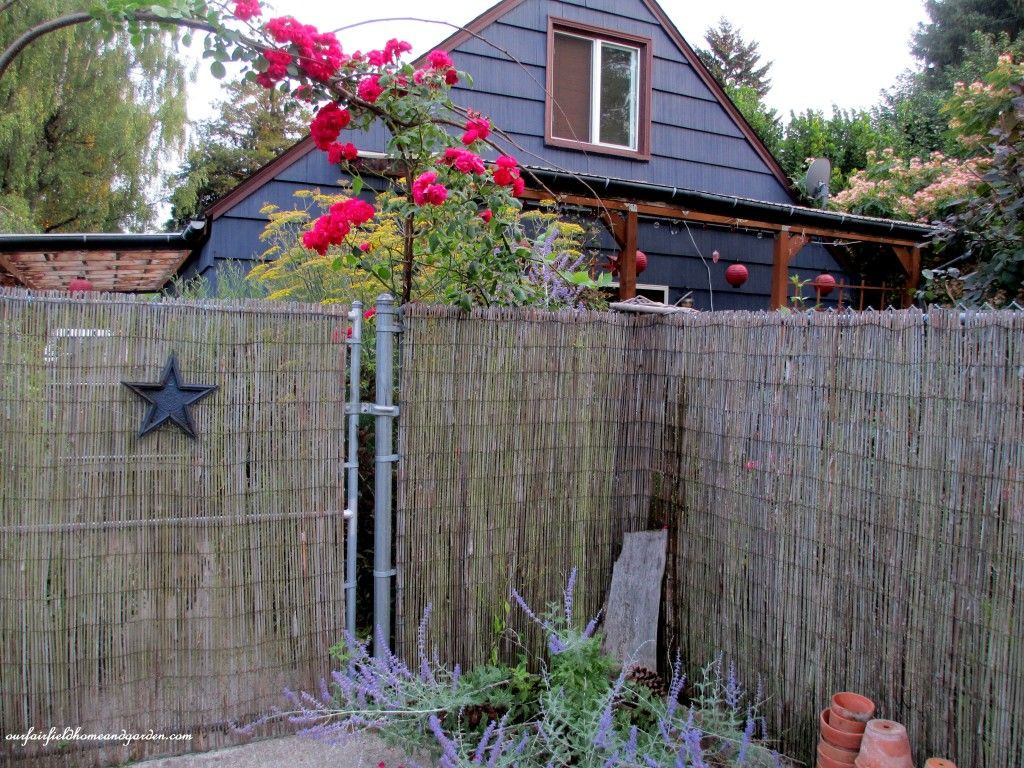 Disguise a chain link fence with bamboo panels fences disguise a chain link fence with bamboo panels baanklon Choice Image