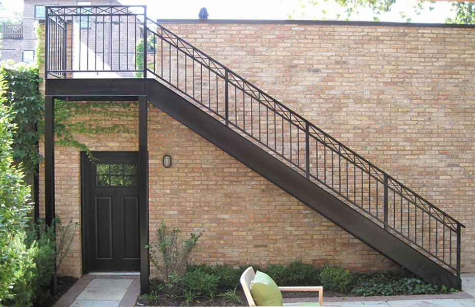 Metal Decking Garage Staircase