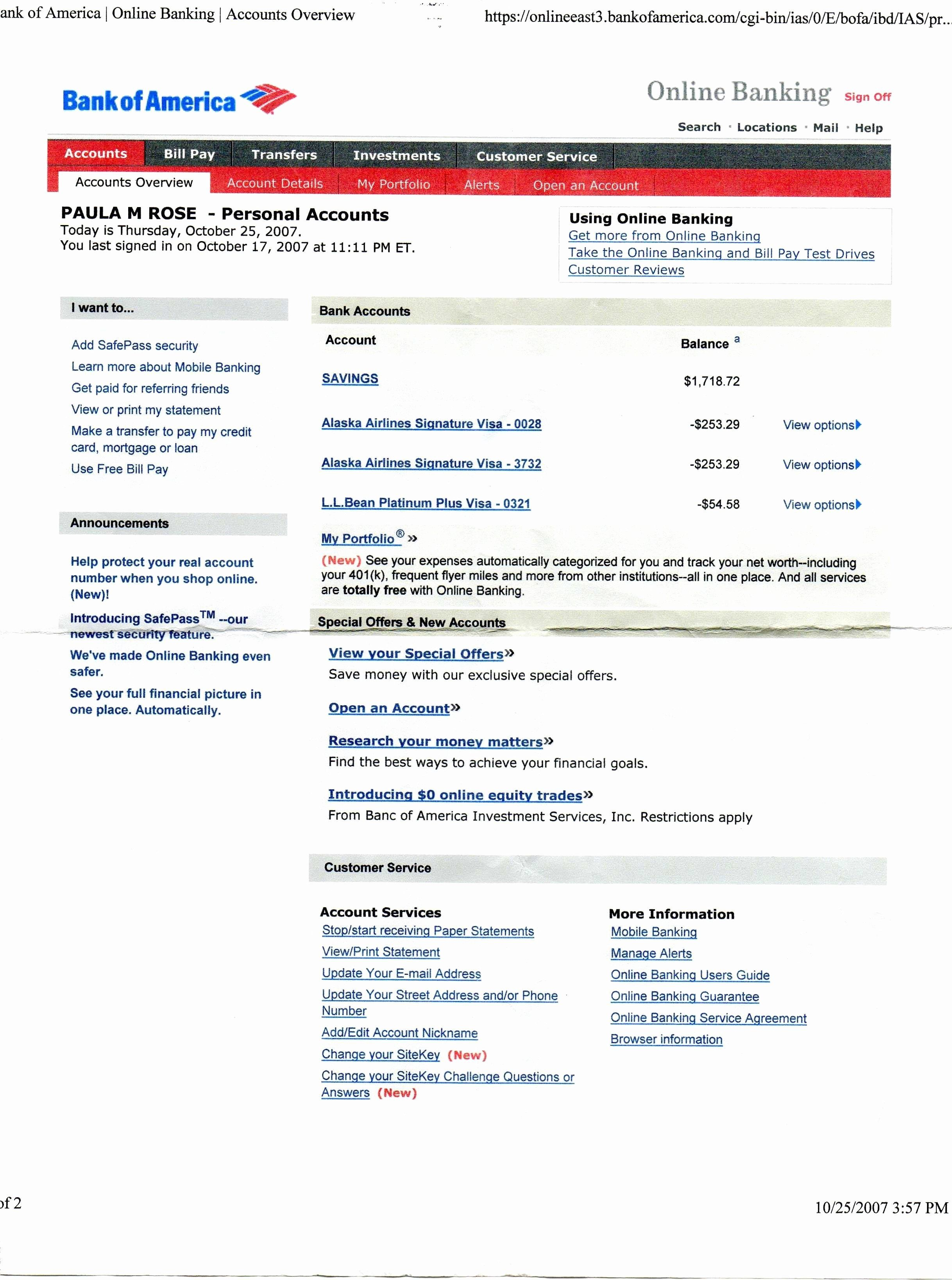 Bank Of America Statement Template Awesome Unique Bank America Statement Template Download In 2020 Statement Template Bank Of America Money Template