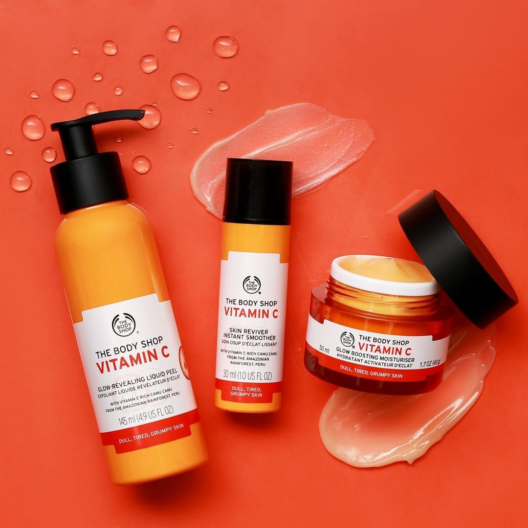 body shop products for face