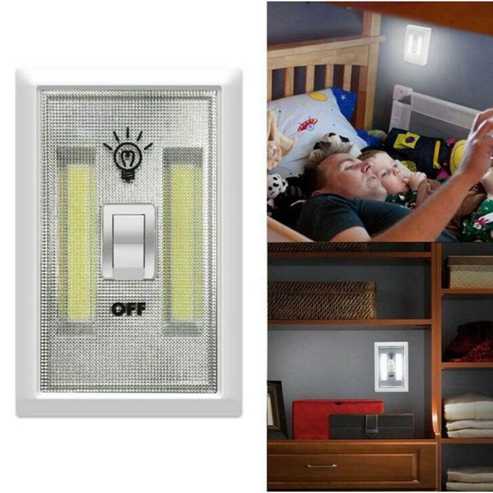 COB LED 3W Light Switch Super Bright Battery Powered No Wire