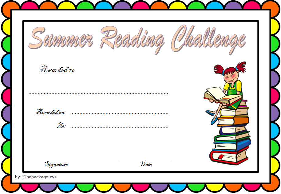 Summer Reading Challenge Certificate Free Printable 3 Summer Reading Challenge Reading Certificates Reading Challenge