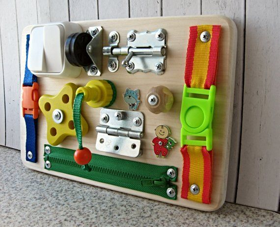 Busy Board Mini Travel Toy For Toddler Sensory Children Game Activity Toy Montessori Toy Wood Travel Toys For Toddlers Toddler Toys Travel Toys