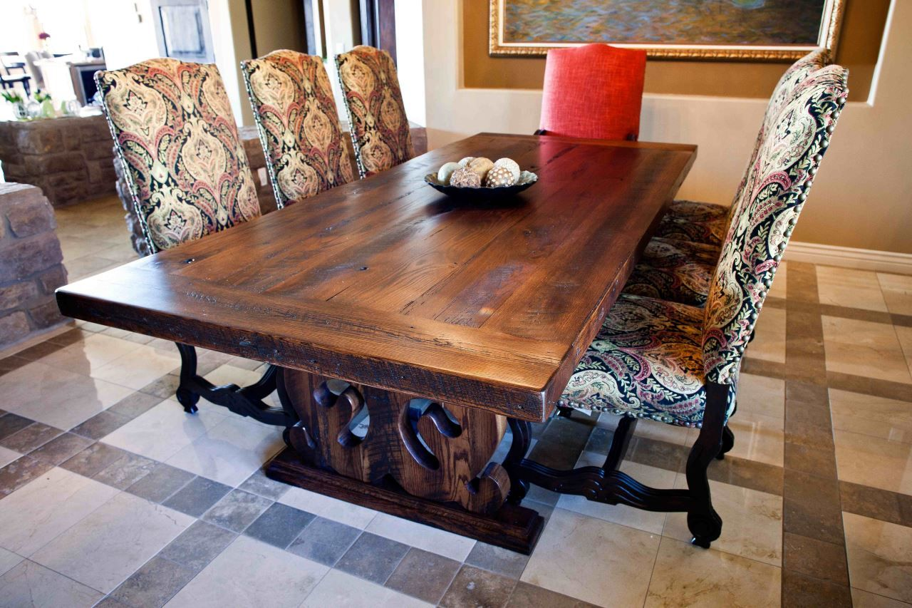 Custom Reclaimed Wood Dining Table By Peter Thomas Designs In