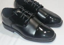 Toddler After Six A6078B Tuxedo Formal Dress Shoes Black Patent/Matte Wedding