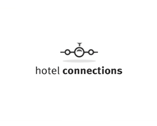 Hotel Connections Logo a simple airplane logo design that works ...