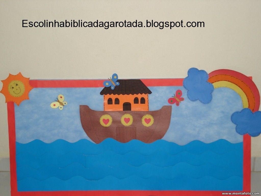 Recursos Visuais para a história da Arca de Noé( Painel de Chamada)