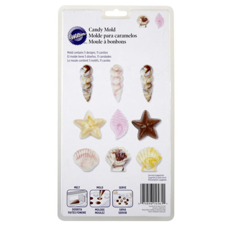 Wilton® Candy Mold, Seashells (at Michaels) | Ocean Party in